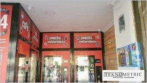 cámaras de seguridad para tiendas vending